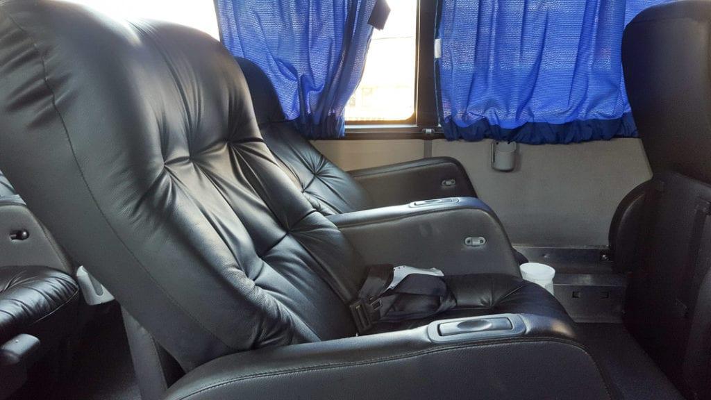 Semi Cama Seats on Andesmar Bus, Andesmar Bus Review, Santiago Mendoza Bus