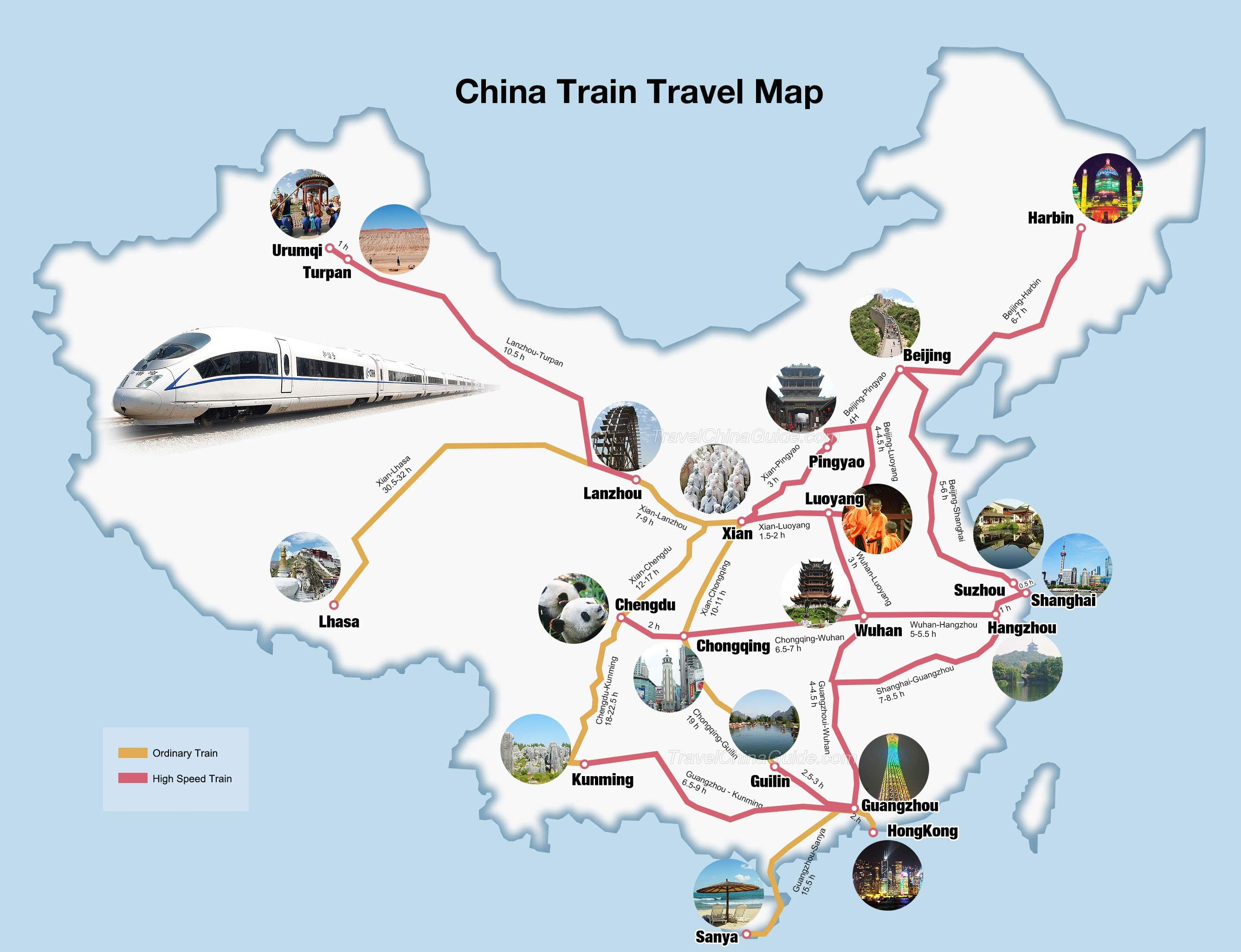 best train routes in China mapped