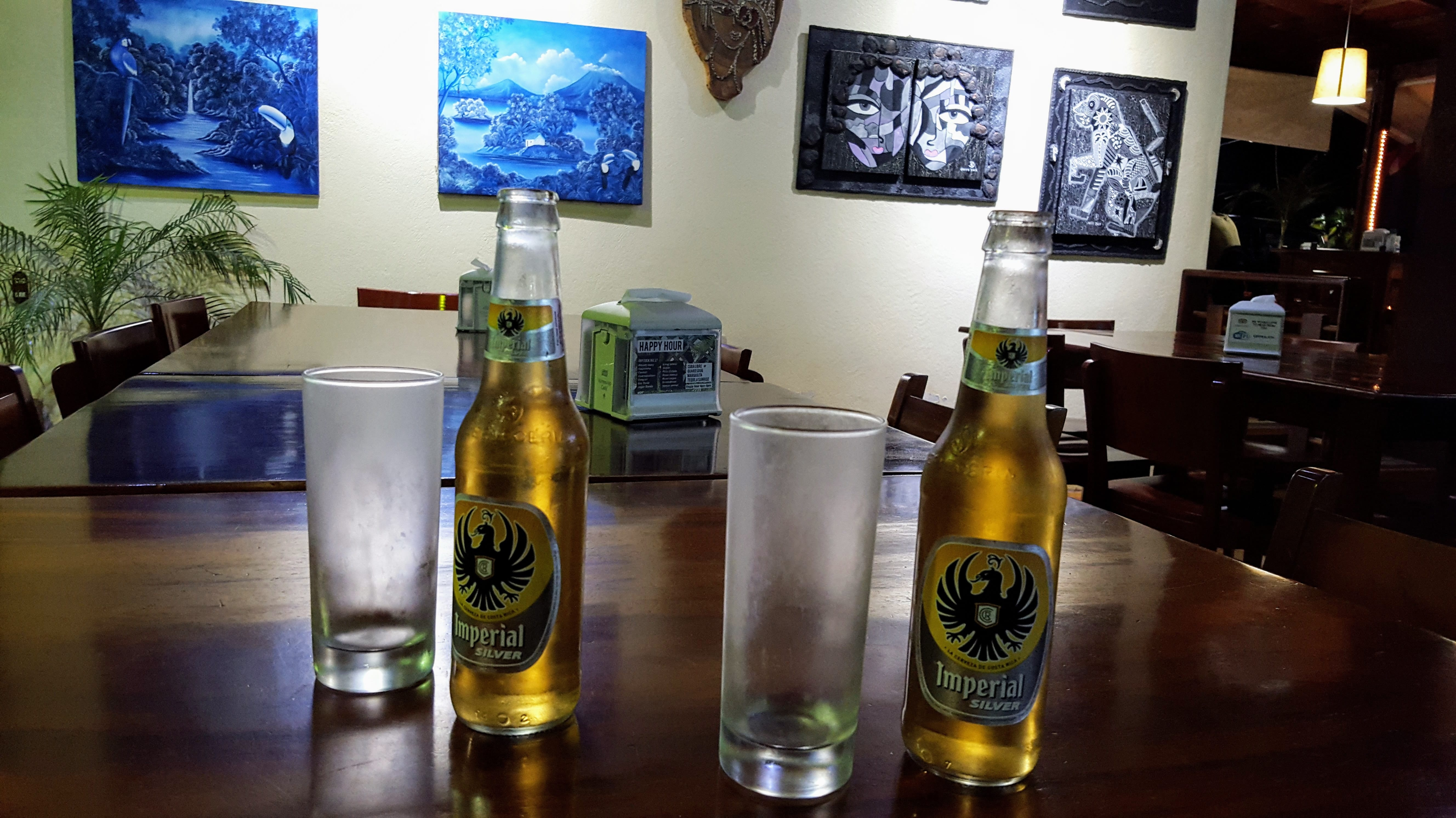 An image of Costa Rica Silver Imperial beer, best beer in Costa Rica