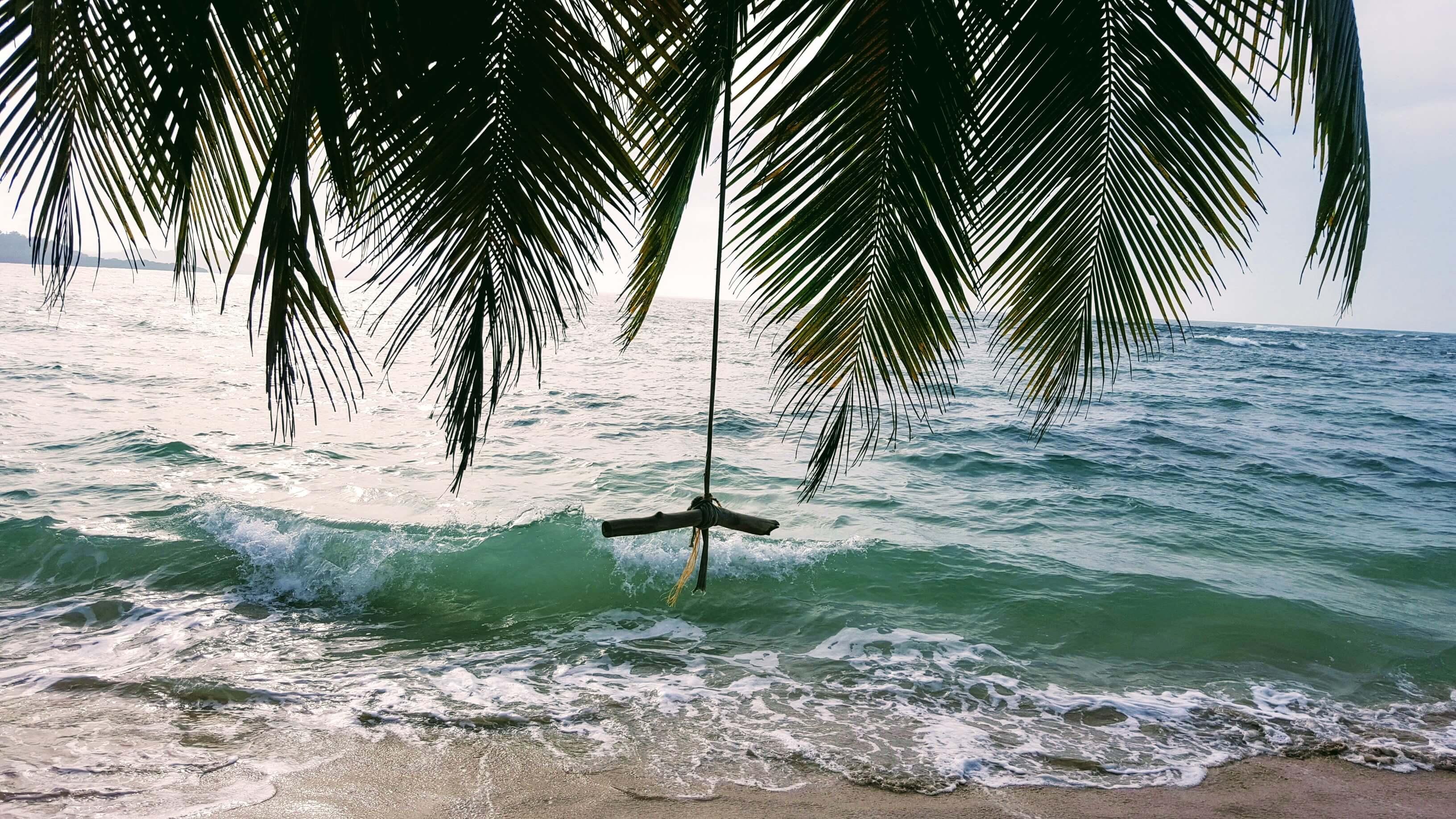 An image of Punta Uva Beach, a great beach near Puerto Viejo