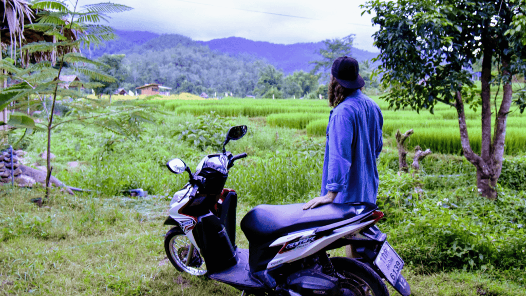 An image showing the best place to rent a scooter in Chiang Mai