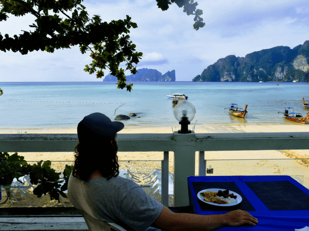 An-image-of-breakfast-with-a view-at-Phi-Phi-Bayview