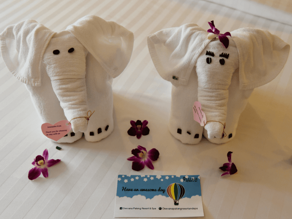 An-image-showing-the-towel-animals-at-Deevana-Plaza