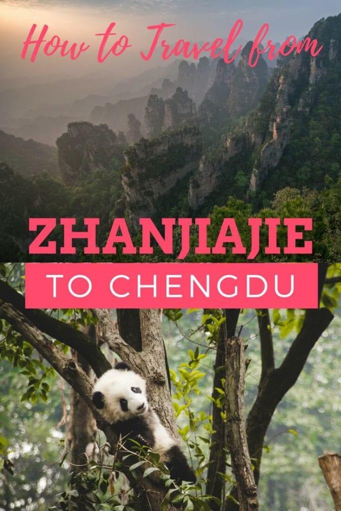 Chengdu to Zhangjiajie