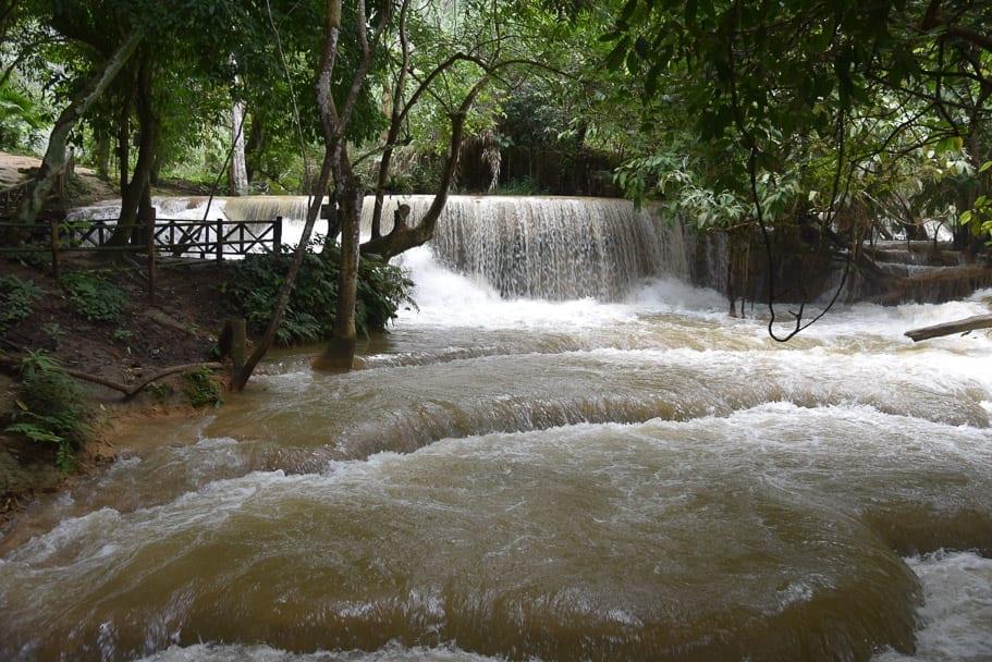 Brown Waterfall Laos