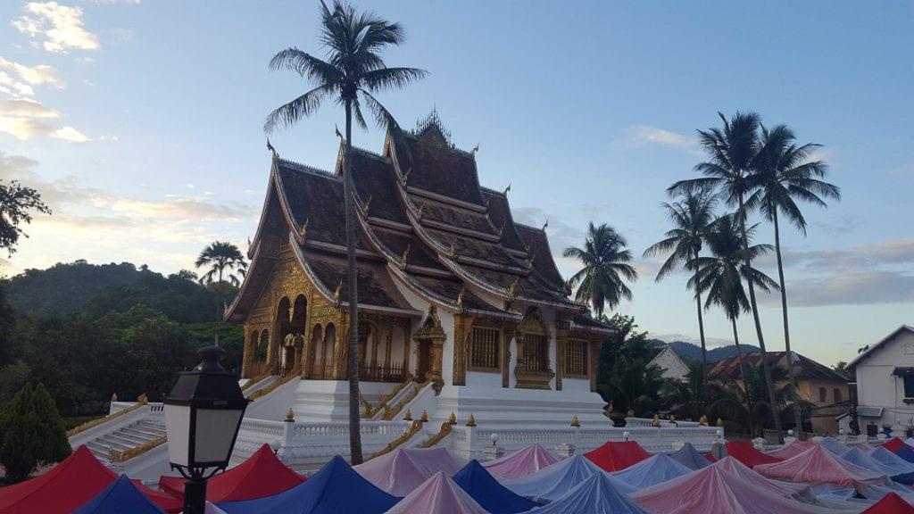 Royal Palace at the foot of Mount Phousi