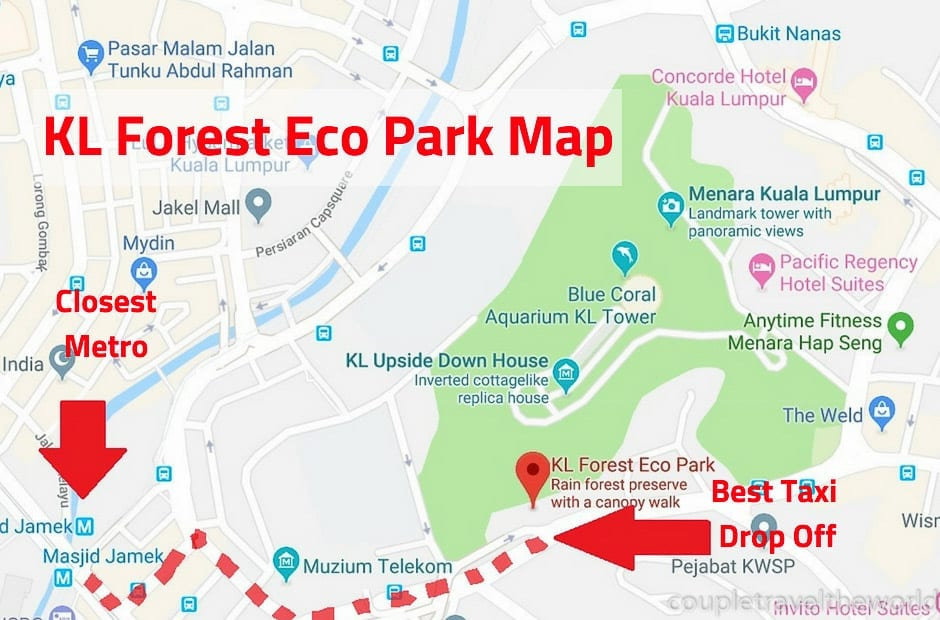 bukit nanas forest reserve map
