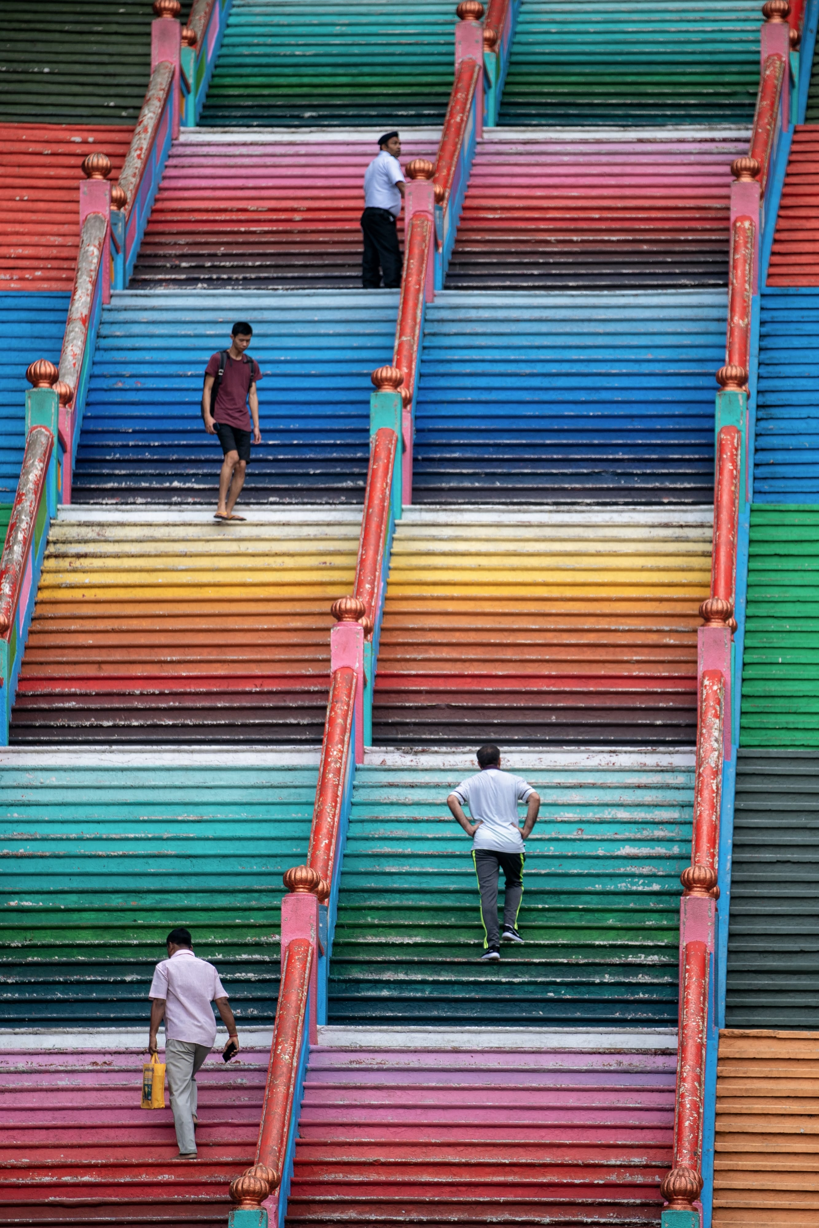 rainbow-color-staircase-kuala-lumpur-malaysia