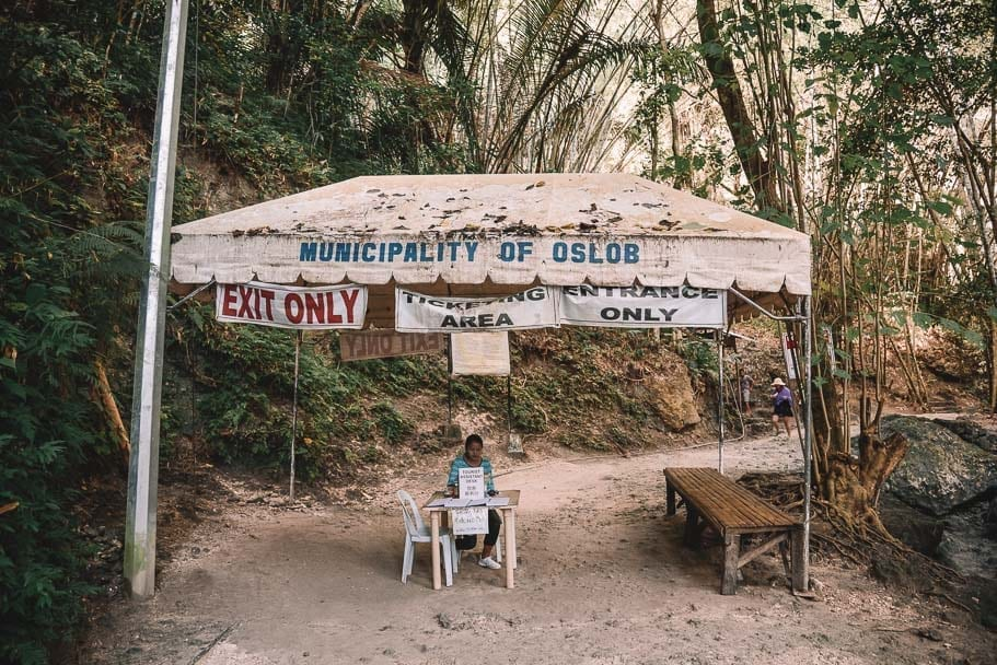 Cost of entry to Tumalog Falls Oslob