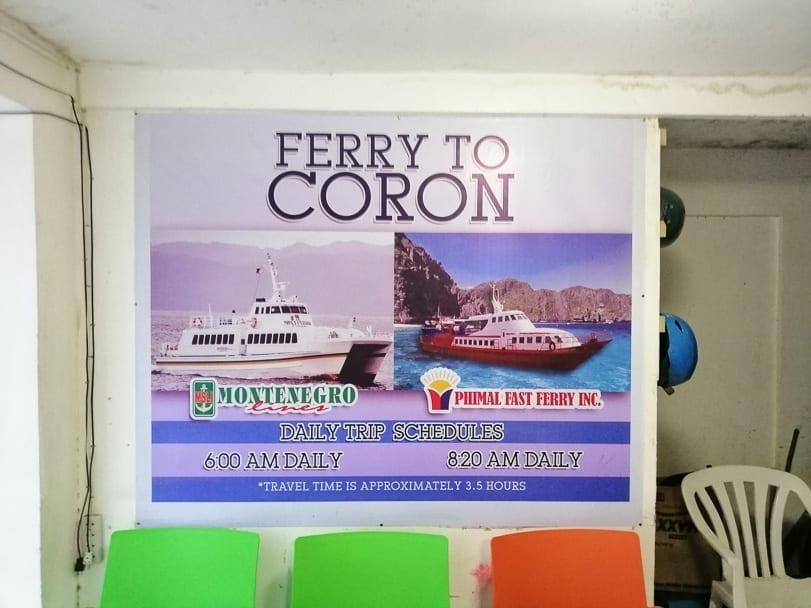 El Nido to Coron Ferry Schedule