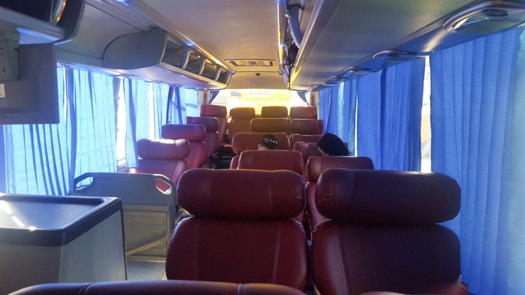 Luxury Bus El Nido to Puerto Princesa, AC bus El Nido, Cherry Bus El Nido, Cherry Bus Puerto Princesa