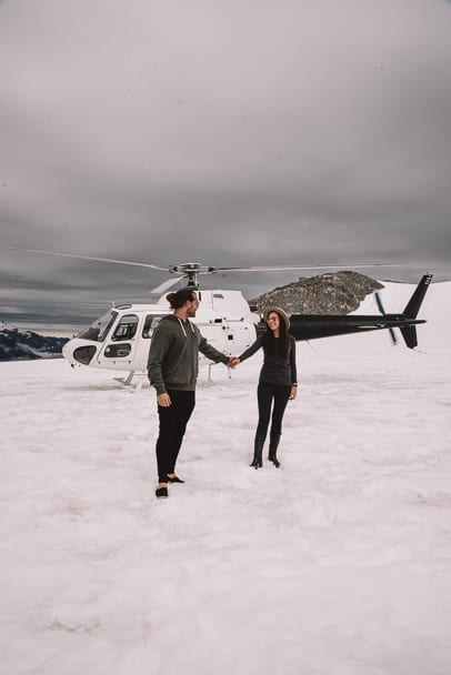 Couple-travel-the-world-helicopter-franz-josef-glacier, Franz-Josef-Instagram, Franz-Josef-Glacier, Franz-Josef-helicopter-tour, Heliservices.nz-franz-josef-glacier-tour, best-franz-josef-helicopter-tour