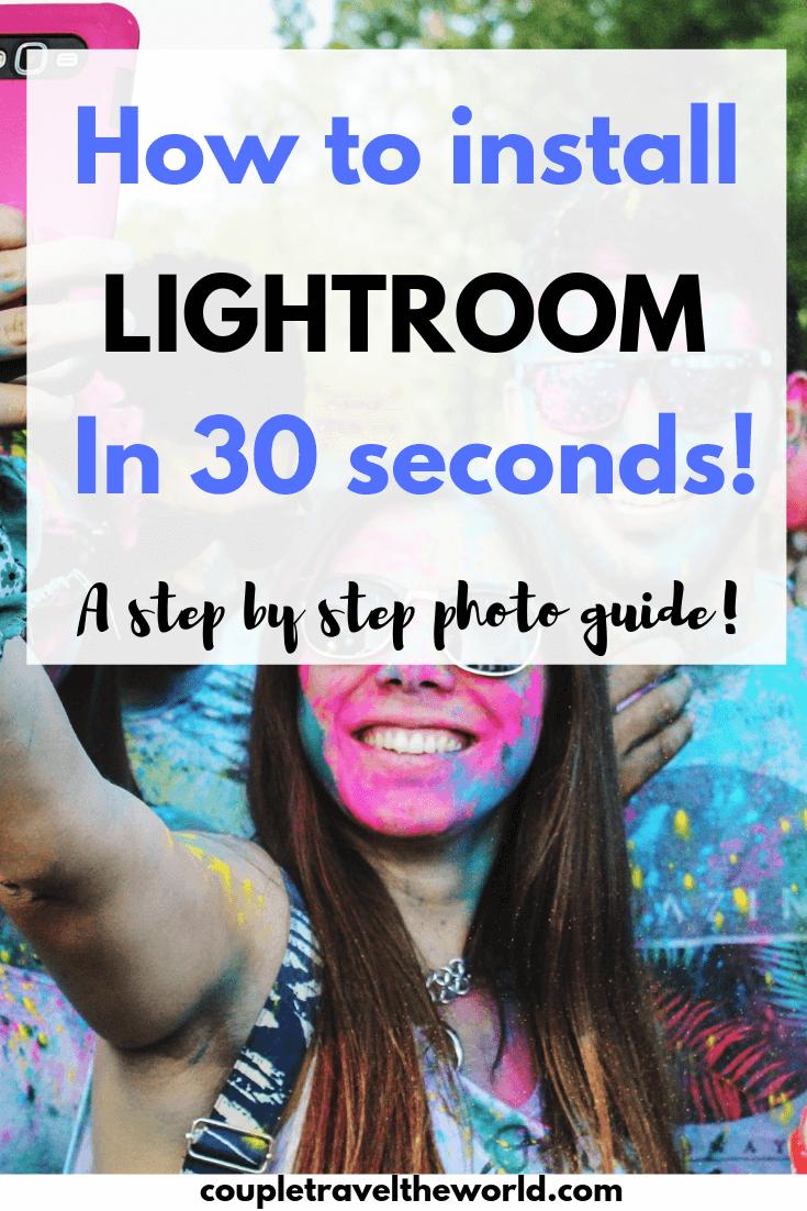 Lightroom in 30 seconds guide