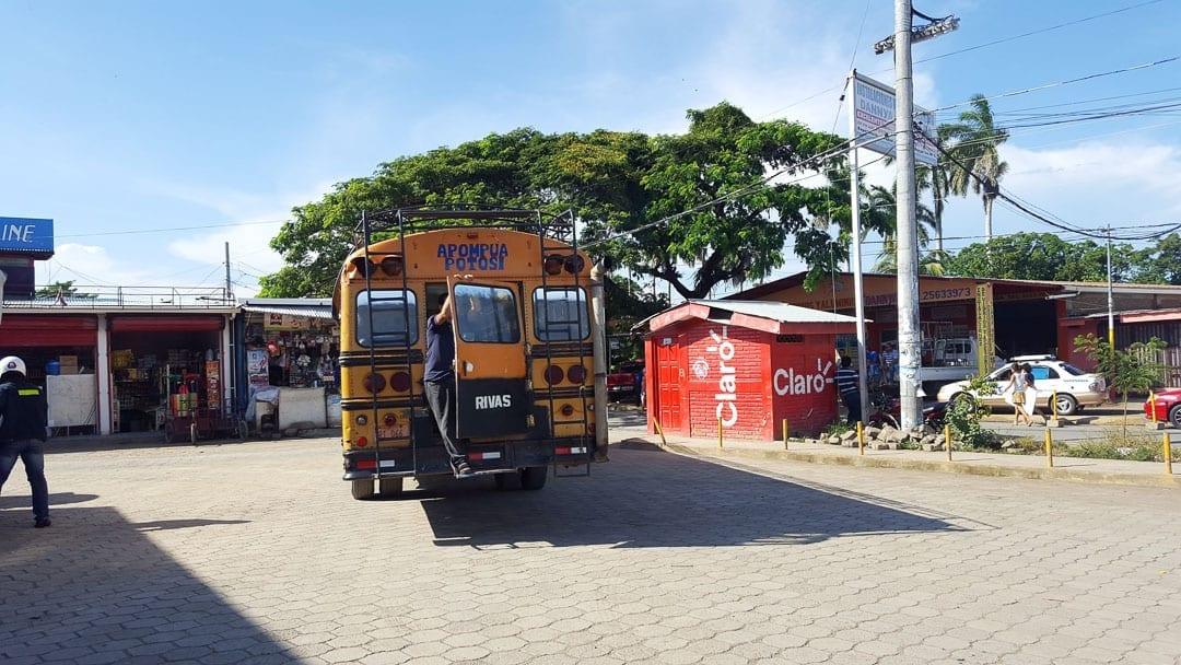 Bus-to-san-Juan-del-Sur-in-rivas-from-ometepe