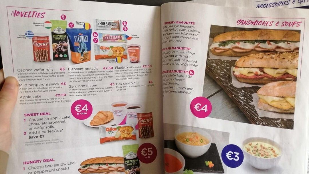 Food-on-Wizz-Air-menu