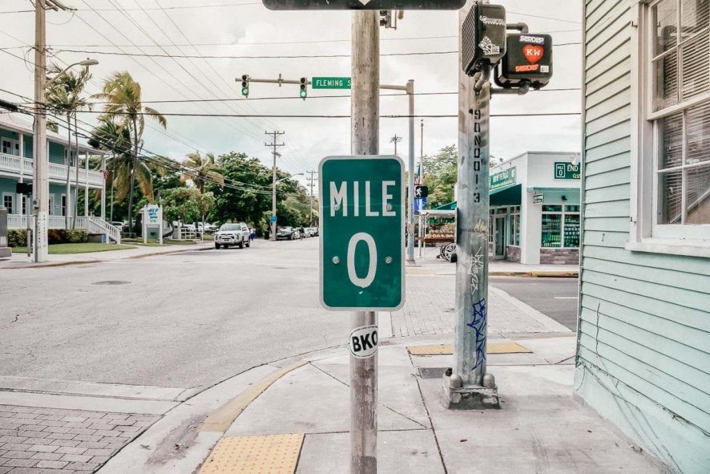 Mile Marker 0 Sign
