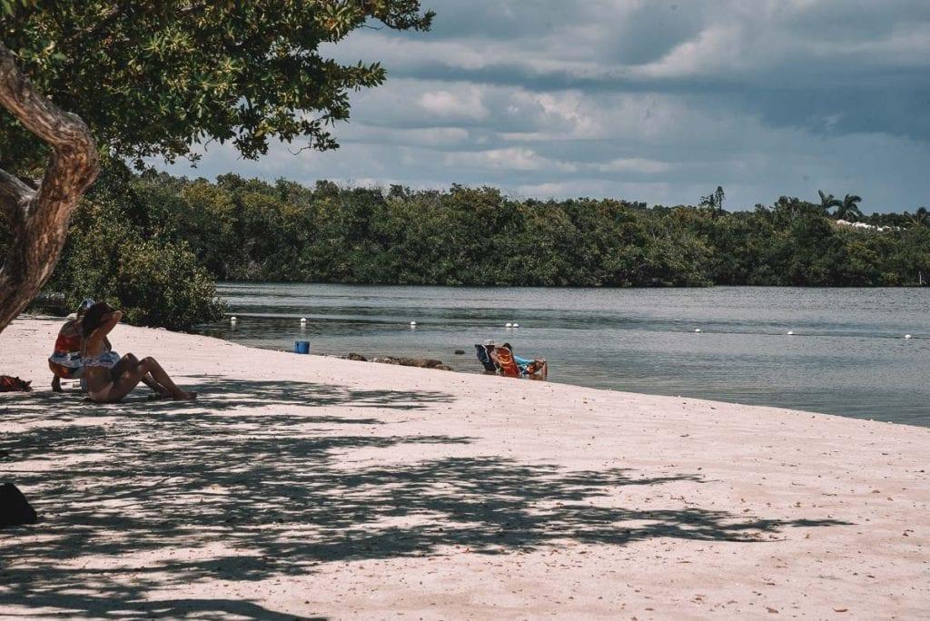 calm water at Far Beach in the Florida Keys