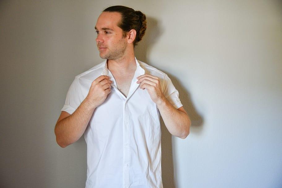 Men-Solid-Short-Sleeve-Shirt