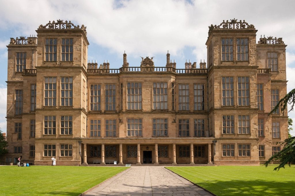 Hardwick Hall, a National Trust property in Derbyshire